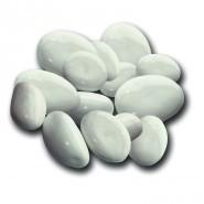 Lesklé lávové kamene (biele)